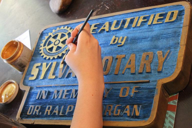 rotary club sign
