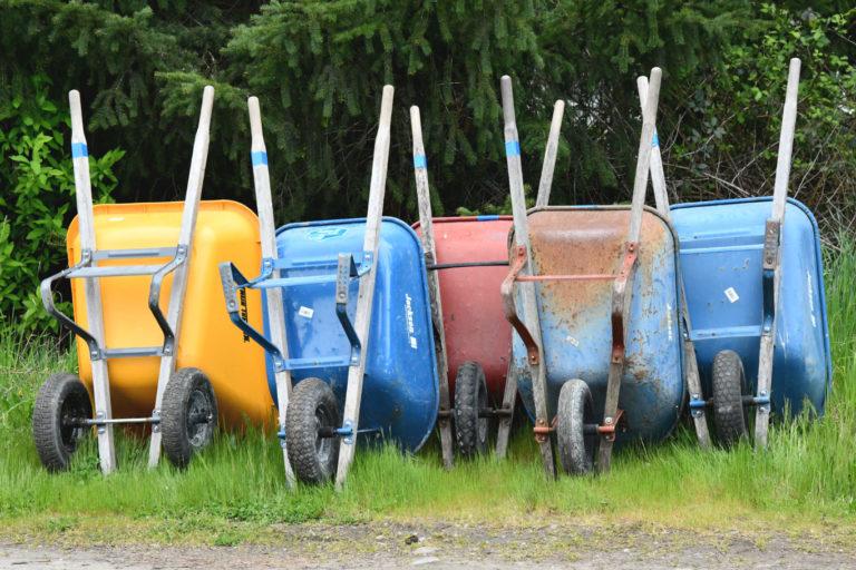 wheel barrows full spectrum farms